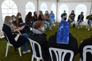 Genåbning - udeskole i telt