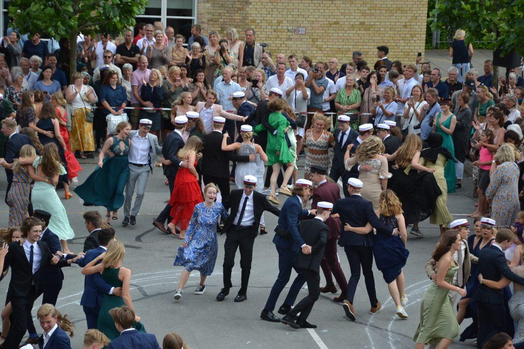 Les Lanciers i skolegården 2019