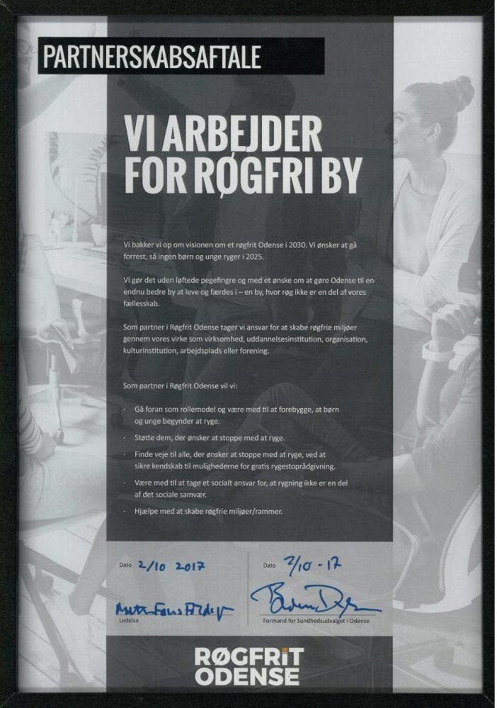 Partnerskabsaftale Røgfrit Odense